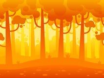 Juego Forest Background horizontal inconsútil Fotos de archivo
