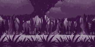 Juego Forest Background horizontal inconsútil para los 2.os juegos del movimiento en sentido vertical lateral, acción, aventura Imágenes de archivo libres de regalías