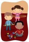 Juego interior de los niños libre illustration