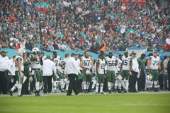 Juego internacional de la serie de los New York Jets contra los Miami Dolphins en el Wembley Stadium Fotografía de archivo libre de regalías