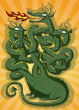Juego lindo del laberinto del dragón Fotografía de archivo libre de regalías