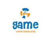 Juego Logo Design Concept Fotografía de archivo