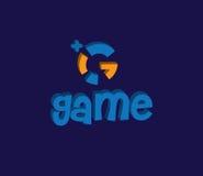 Juego Logo Design Concept Fotografía de archivo libre de regalías