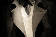 Juego moderno del hombre de negocios con el lazo Fotos de archivo