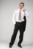 Juego negro y camisa blanca Foto de archivo