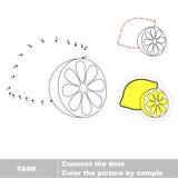 Juego para los números Un limón de la historieta Imágenes de archivo libres de regalías