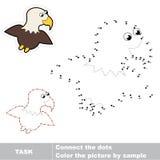 Juego para los números Una águila de la historieta Imagenes de archivo