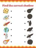 juego para los niños preescolares Encuentre el preescolar de la sombra o la hoja de trabajo correcto de la guardería Ilustración  stock de ilustración