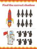 juego para los niños preescolares Encuentre el preescolar de la sombra o la hoja de trabajo correcto de la guardería Ilustración  ilustración del vector
