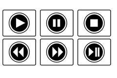 Juego, pausa, botón de paro Imagen de archivo libre de regalías