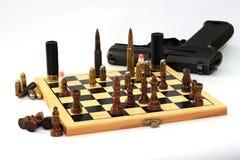 Juego peligroso, juego de ajedrez Imagen de archivo