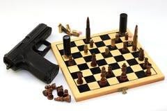 Juego peligroso, juego de ajedrez Fotos de archivo libres de regalías