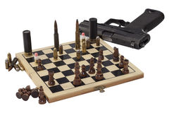 Juego peligroso, juego de guerra Foto de archivo