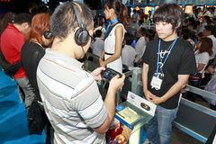 Juego Playstation Vita Imágenes de archivo libres de regalías