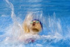 Juego que nada del juego 2016 del Brasil - de Rio De Janeiro - de Paralympic foto de archivo libre de regalías