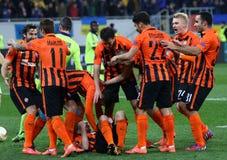 Juego Shakhtar Donetsk de la liga del Europa de la UEFA contra Anderlecht Imágenes de archivo libres de regalías