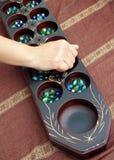 Juego tradicional Congkak Imagen de archivo