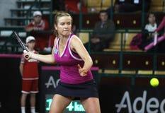 Juego Ucrania del tenis de FedCup contra Canadá Foto de archivo