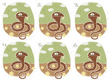 Juego divertido de la representación visual de la cobra Imágenes de archivo libres de regalías