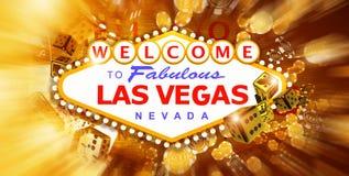 Juego y diversión de Las Vegas stock de ilustración