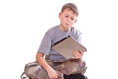 Juegos adolescentes en el ordenador de la tablilla Imagen de archivo