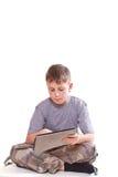 Juegos adolescentes en el ordenador de la tablilla Fotos de archivo