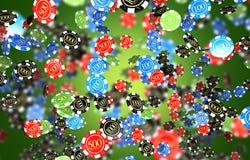 Juegos Chips Background del casino Fotos de archivo