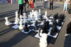 Juegos de ajedrez grandes Fotos de archivo libres de regalías