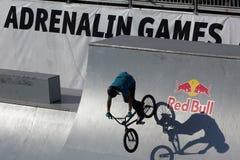 Juegos de la adrenalina en Moscú, Rusia, Imágenes de archivo libres de regalías