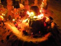 Juegos de la Navidad para los muchachos y las muchachas Imagen de archivo libre de regalías