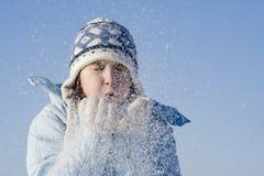 Juegos de la nieve foto de archivo libre de regalías