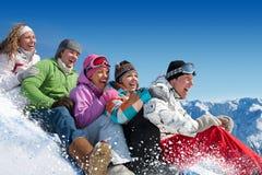 Juegos de la nieve Imagen de archivo libre de regalías