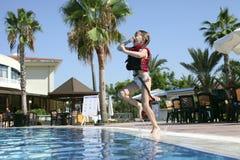 Juegos de la piscina Imagenes de archivo