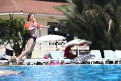 Juegos de la piscina Fotos de archivo libres de regalías