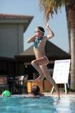Juegos de la piscina Foto de archivo libre de regalías