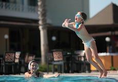 Juegos de la piscina Foto de archivo