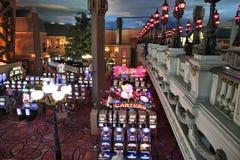 Juegos de la ranura del casino fotografía de archivo libre de regalías