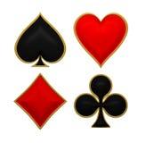 Juegos de la tarjeta con enmarcar de oro Imagen de archivo libre de regalías