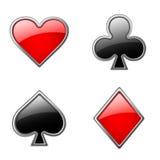 Juegos de las tarjetas stock de ilustración