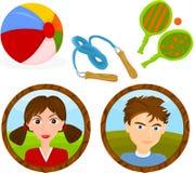 Juegos de los niños Foto de archivo libre de regalías