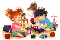 Juegos de los niños stock de ilustración