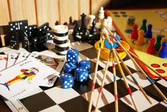 Juegos de mesa Foto de archivo libre de regalías