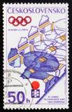 Juegos de olimpiada de invierno 1972, circa 1972 Fotos de archivo libres de regalías
