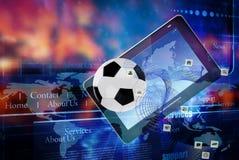 Juegos de ordenadores del fútbol de los deportes imagen de archivo
