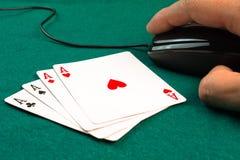 Juegos de póker libres en línea Foto de archivo