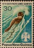 Juegos de South Pacific del sello del png Imagen de archivo