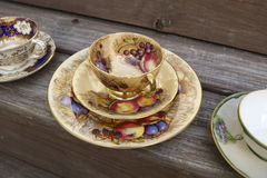 Juegos de té del estilo del vintage imagen de archivo libre de regalías