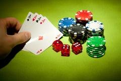 Juegos del casino fotografía de archivo libre de regalías