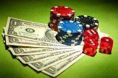 Juegos del casino imagen de archivo