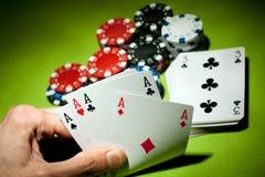 Juegos del casino Foto de archivo libre de regalías